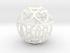 Sahara Lovaball in White Processed Versatile Plastic