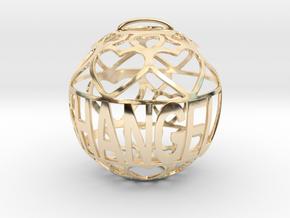 Shangela Lovaball in 14k Gold Plated Brass