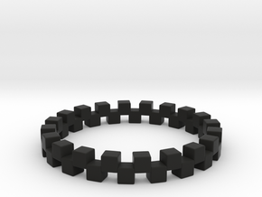 Cuboid Ring, US size 12.5, d=21.8mm(all sizes on d in Black Natural Versatile Plastic: 12.5 / 67.75