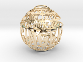 Ginger Quotaball in 14k Gold Plated Brass