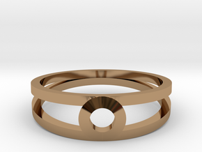 """""""K Line""""  K3 Ring, US size 8, d=18,2mm(all sizes o in Polished Brass: 8 / 56.75"""