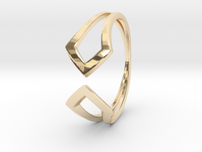 HIDDEN HEART Smooth, ring US size 10.5 , d=20,2mm in 14k Gold Plated Brass: 10.5 / 62.75