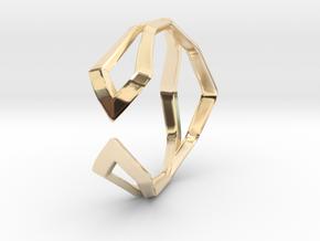 HIDDEN HEART Sharp, ring US size 10.5 , d=20,2mm in 14K Yellow Gold: 10.5 / 62.75