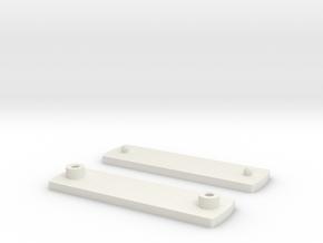 Clip1 in White Natural Versatile Plastic