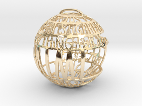 Mimi Quotaball in 14k Gold Plated Brass
