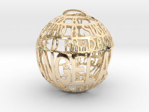 Shangela Quotaball 1 in 14k Gold Plated Brass