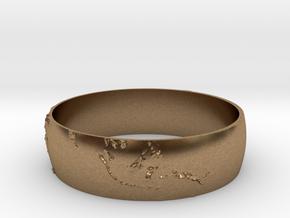 Earth Bracelet in Natural Brass