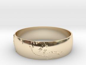 Earth Bracelet in 14k Gold Plated Brass