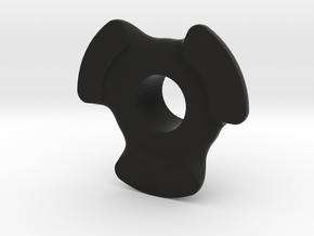 Cheater Locker Rear Plate V2 in Black Natural Versatile Plastic
