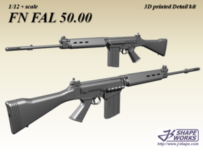 1/12+ FN FAL 50.00 in Smoothest Fine Detail Plastic: 1:12