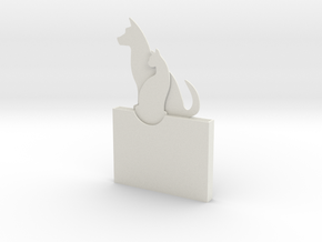 Cat And Dog Gift Card Holder in White Natural Versatile Plastic
