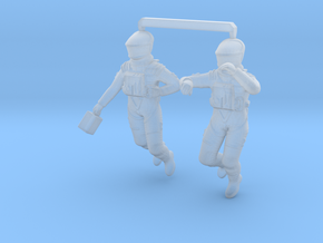 2001 Astronauts floating in Smoothest Fine Detail Plastic: 1:48
