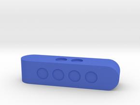 d4 Sphericon Stick Die in Blue Processed Versatile Plastic