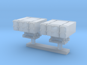 1:350 Scale Mk 25 BMPDS Sea Sparrow Launchers (2x) in Frosted Ultra Detail
