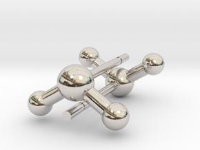 Water Molecule Stud Earrings in Platinum
