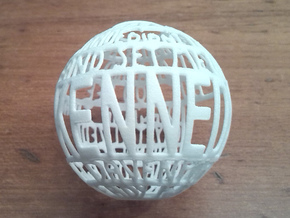 Kennedy Quotaball in White Strong & Flexible Polished