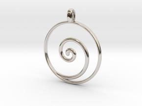 KORU Maori symbol Jewelry Pendant in Platinum