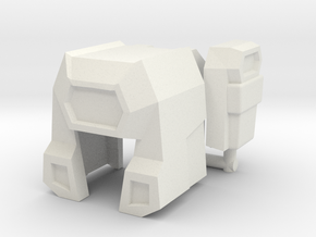 Mainframe Helmet-and-face in White Strong & Flexible