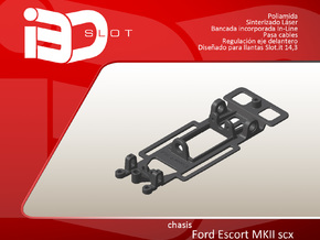 Chasis para Ford Escort MKII scx in White Natural Versatile Plastic