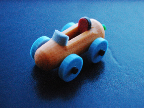 Carrot Car 2 in Glossy Full Color Sandstone: Large