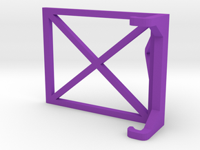 Simple iPhone Stand in Purple Processed Versatile Plastic