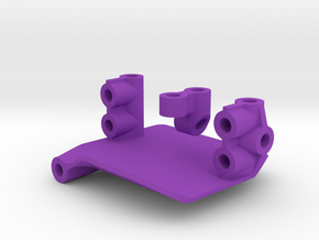 Margouillat Front AR60 Axle | Support Servo in Purple Processed Versatile Plastic