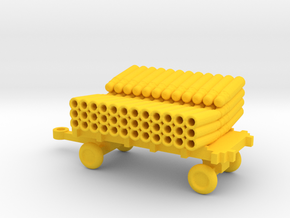 1/72 Scale SonoBouy Cart Empty in Yellow Strong & Flexible Polished