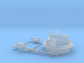 1/35 20mm Mount Mk-12 MOD1 w. Oerlikon Gun PT Boat in Smooth Fine Detail Plastic