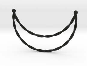 Necklace in Black Natural Versatile Plastic