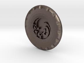Golf Ball Marker House Targaryen in Polished Bronzed Silver Steel