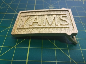 YAMS Belt Buckle   in Matte Gold Steel: Small
