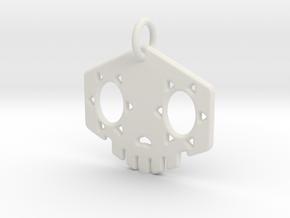 "1"" Sombra Pendant in White Natural Versatile Plastic"