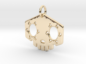 """1"""" Sombra Pendant in 14k Gold Plated Brass"""