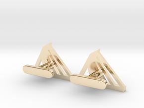 Rotterdam Cufflinks in 14k Gold Plated Brass