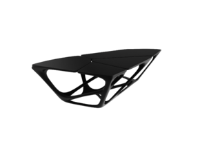 Miniature Mesa Table - Zaha Hadid in White Strong & Flexible: 1:24