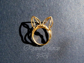The Ears Ring / size 6US (16.5mm) in 14k Gold Plated