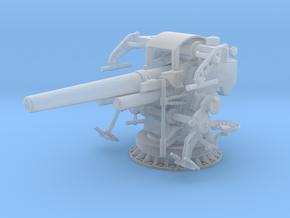 1/96 US Navy 5 inch 25 Cal. Gun Mount Mark 40 in Smooth Fine Detail Plastic