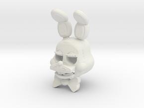 Custom Cute Rabbit in White Strong & Flexible