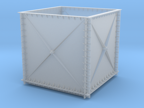 Cast Iron Plate Water Tank in Smooth Fine Detail Plastic: 1:32