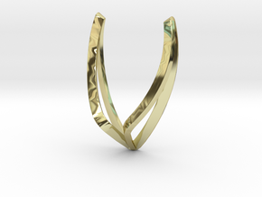 sWINGS Line, Pendant. Pure, Elegant.  in 18k Gold Plated Brass