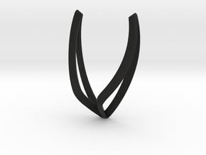 sWINGS Line, Pendant. Pure, Elegant.  in Black Natural Versatile Plastic