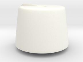 Fez  in White Processed Versatile Plastic