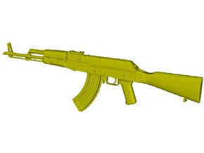 1/16 scale Avtomat Kalashnikova AK-47 rifle x 1 in Smooth Fine Detail Plastic
