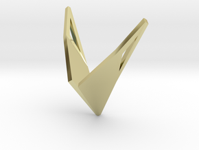 sWINGS Origami, Pendant. Sharp Elegance in 18k Gold Plated Brass
