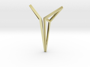 YOUNIVERSAL Origami Structure, Pendant. Sharp Chic in 18K Gold Plated
