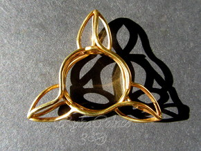 Ring The triangle/ size 10US (19.9 mm) in 14k Gold Plated Brass