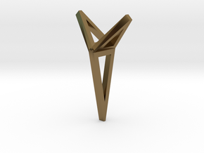 YOUNIVERSAL 3T Origami, Pendant. Sharp Chic in Polished Bronze