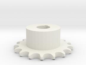Pignone Per Catena Semplice ISO 04B-1 P6 Z17 in White Natural Versatile Plastic