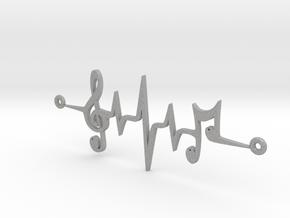 Musical Notes Pendant in Aluminum