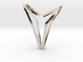 YOUNIVERSAL Simplicist, Pendant. Simplified Chic in Rhodium Plated Brass